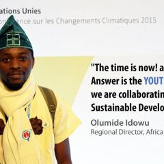 "COP 22- Nigeria-Civil Society:  ""tackling climate change with women and youth""- Olumide Idowu"